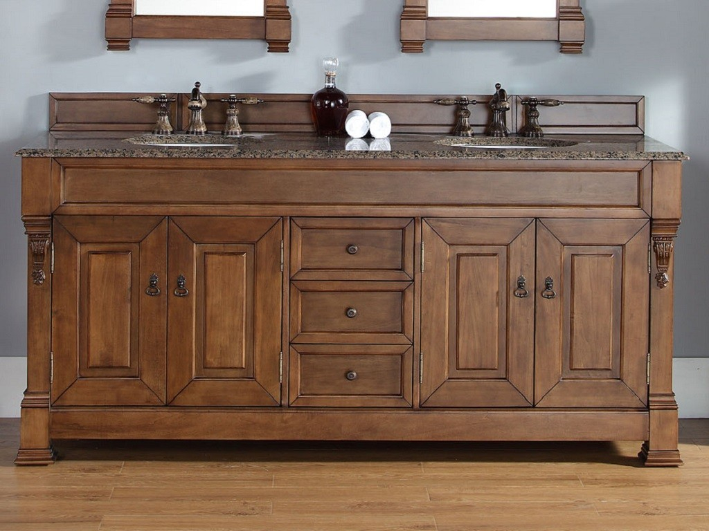 Wood Country Bathroom Vanity Interesting Country Bathroom Vanities throughout dimensions 1024 X 768