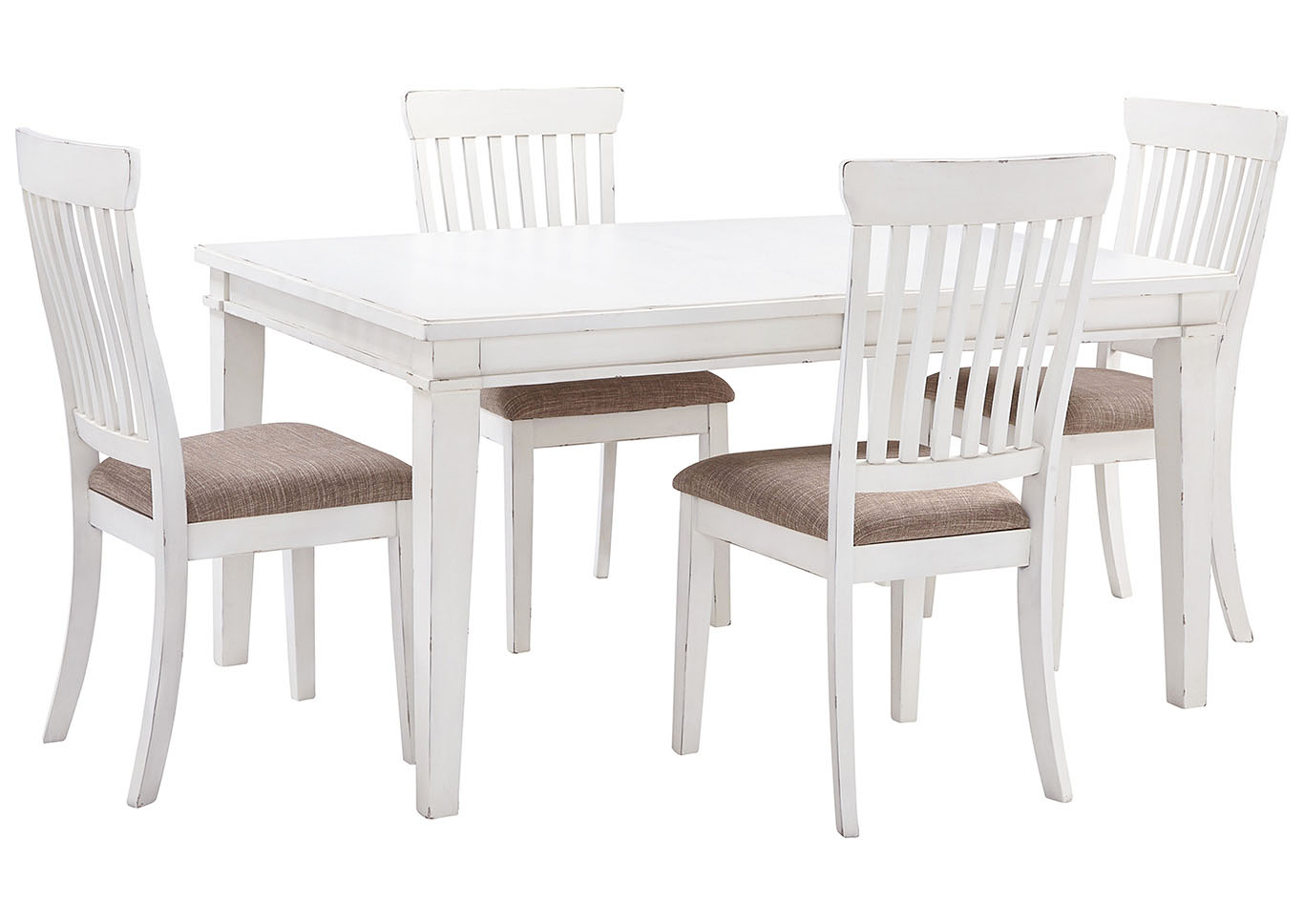 Alliance Furniture Usa Danbeck White Dining Table Set W within sizing 1366 X 968