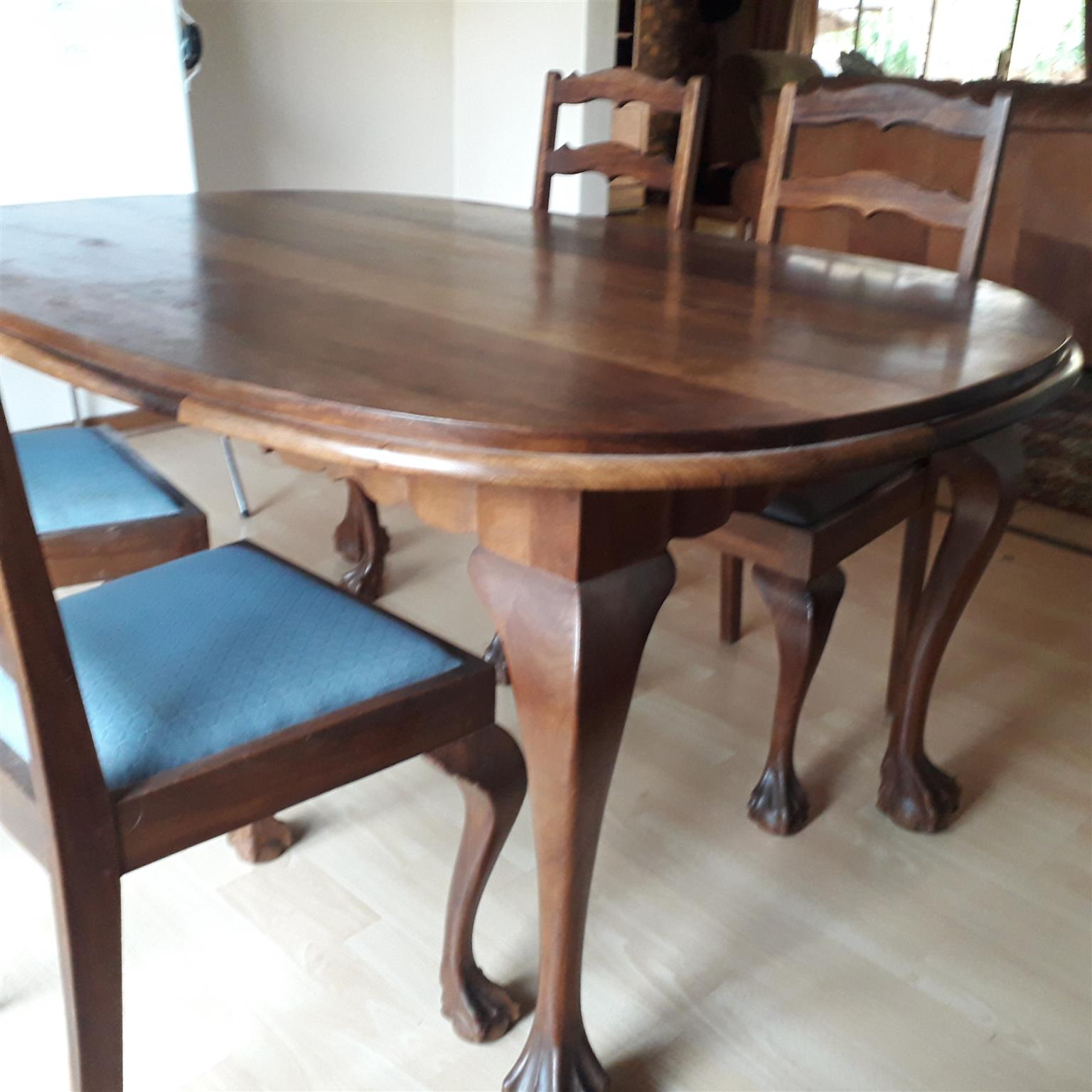 Beautiful Kiaat Dining Room Table With 6 Chairs for size 1536 X 1536