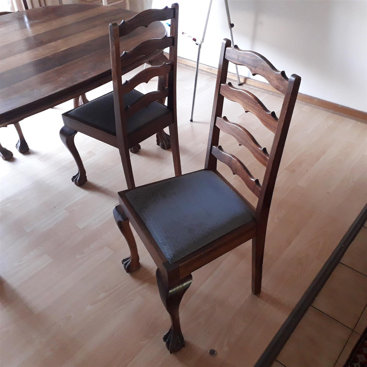 Beautiful Kiaat Dining Room Table With 6 Chairs in size 1536 X 1536