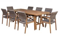 Cascade Set 8 Seater With Capri Wood And Wicker Chairs intended for sizing 2244 X 2244