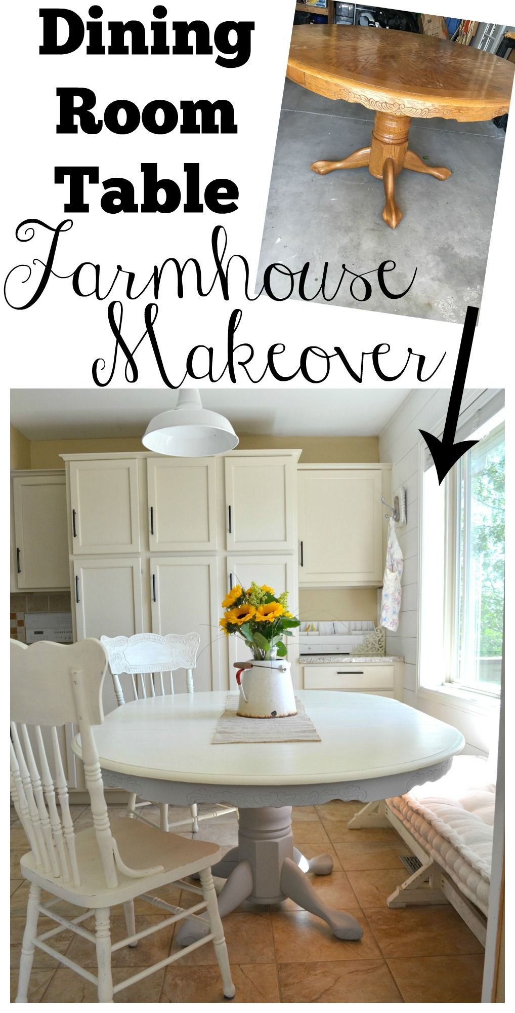 Chalk Paint Dining Table Makeover Dining Table Makeover intended for measurements 1018 X 2000