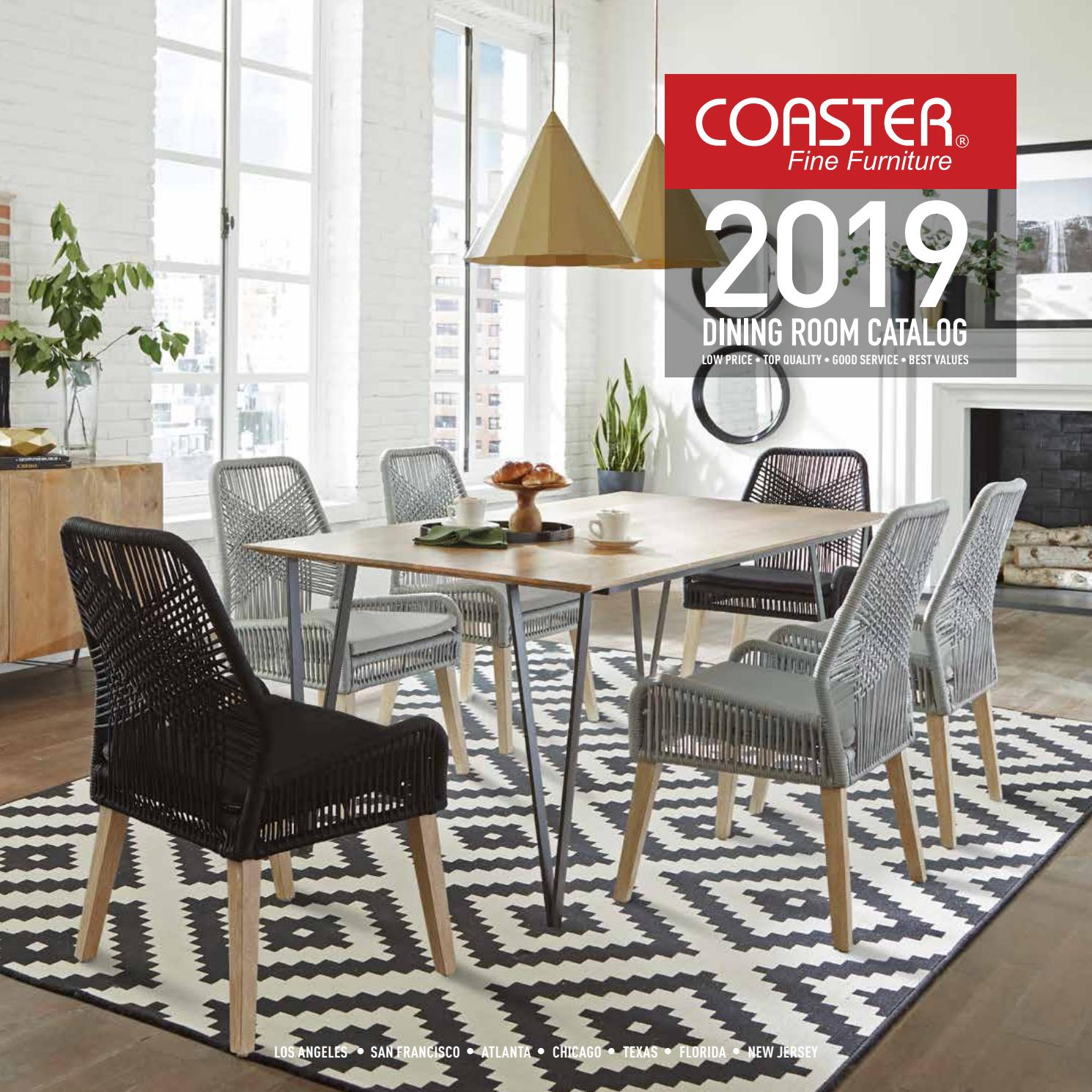 Coaster 2019 Dining Room Catalog Coaster Company Of inside size 1490 X 1490