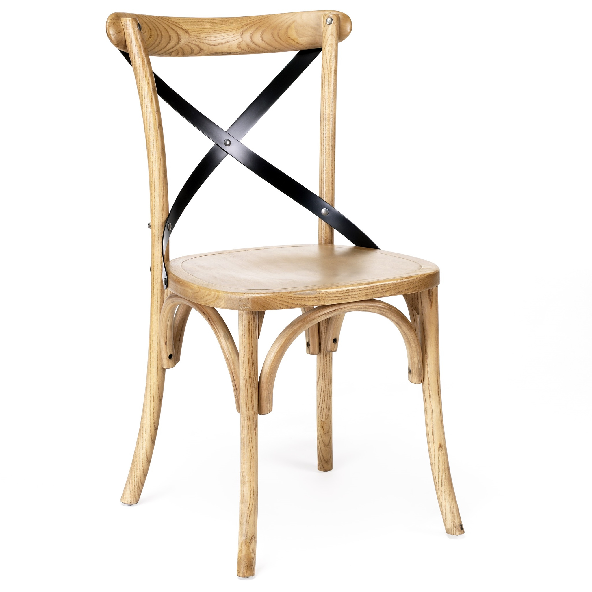 Cross Back Timber Chair for measurements 2049 X 2049