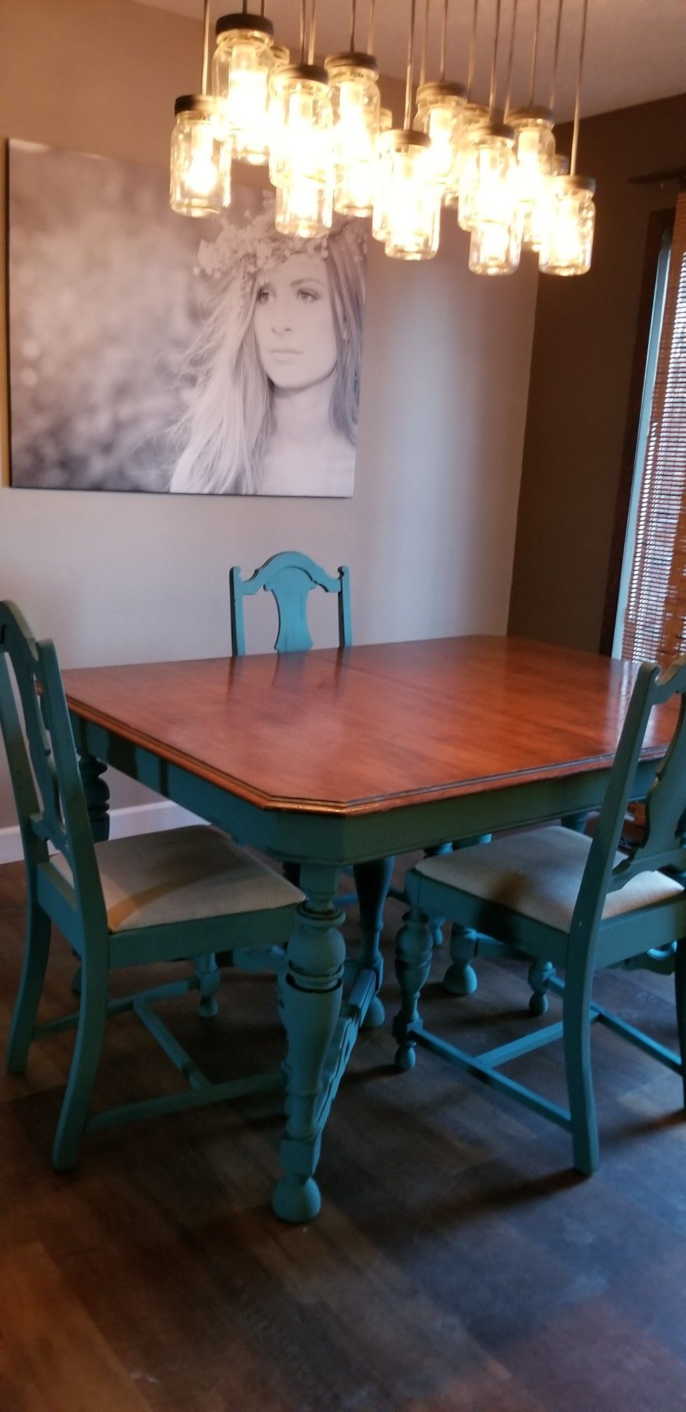 Diy Chalk Paint Blue Dining Room Table Chairs Diy Dining intended for dimensions 980 X 2016