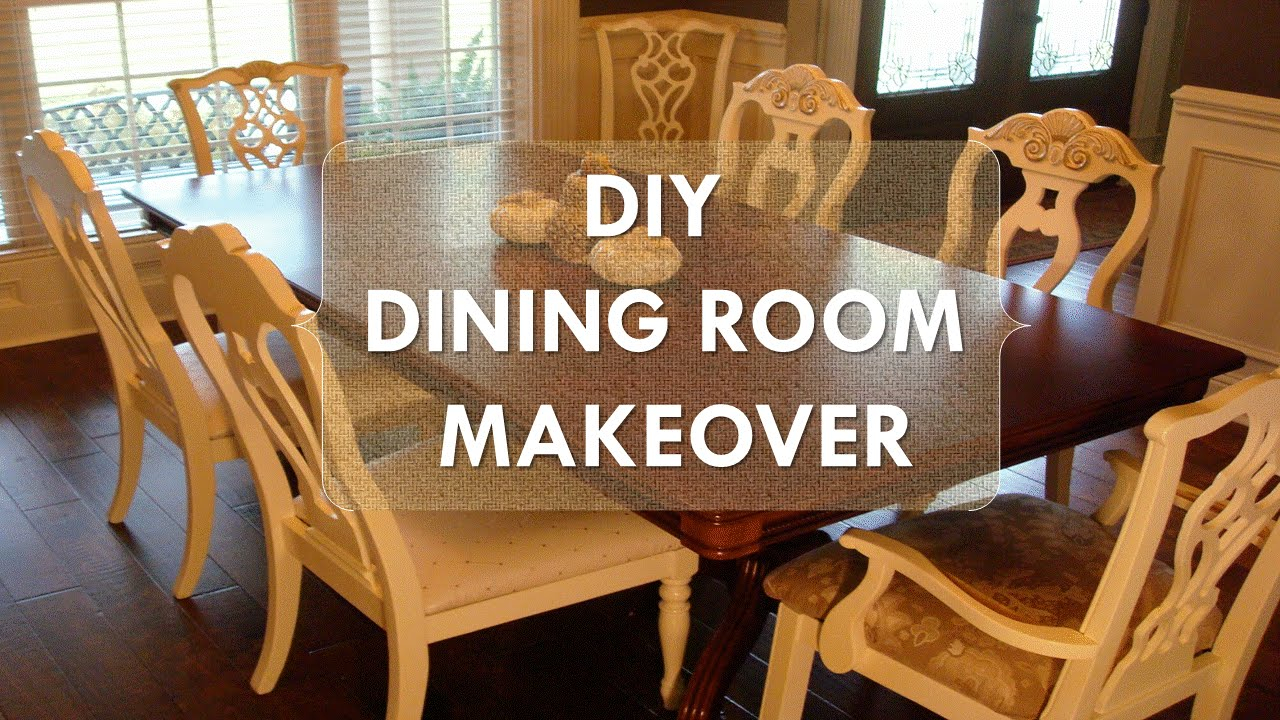 Diy Dining Room Makeover Just Chalk Paint Fabric within size 1280 X 720