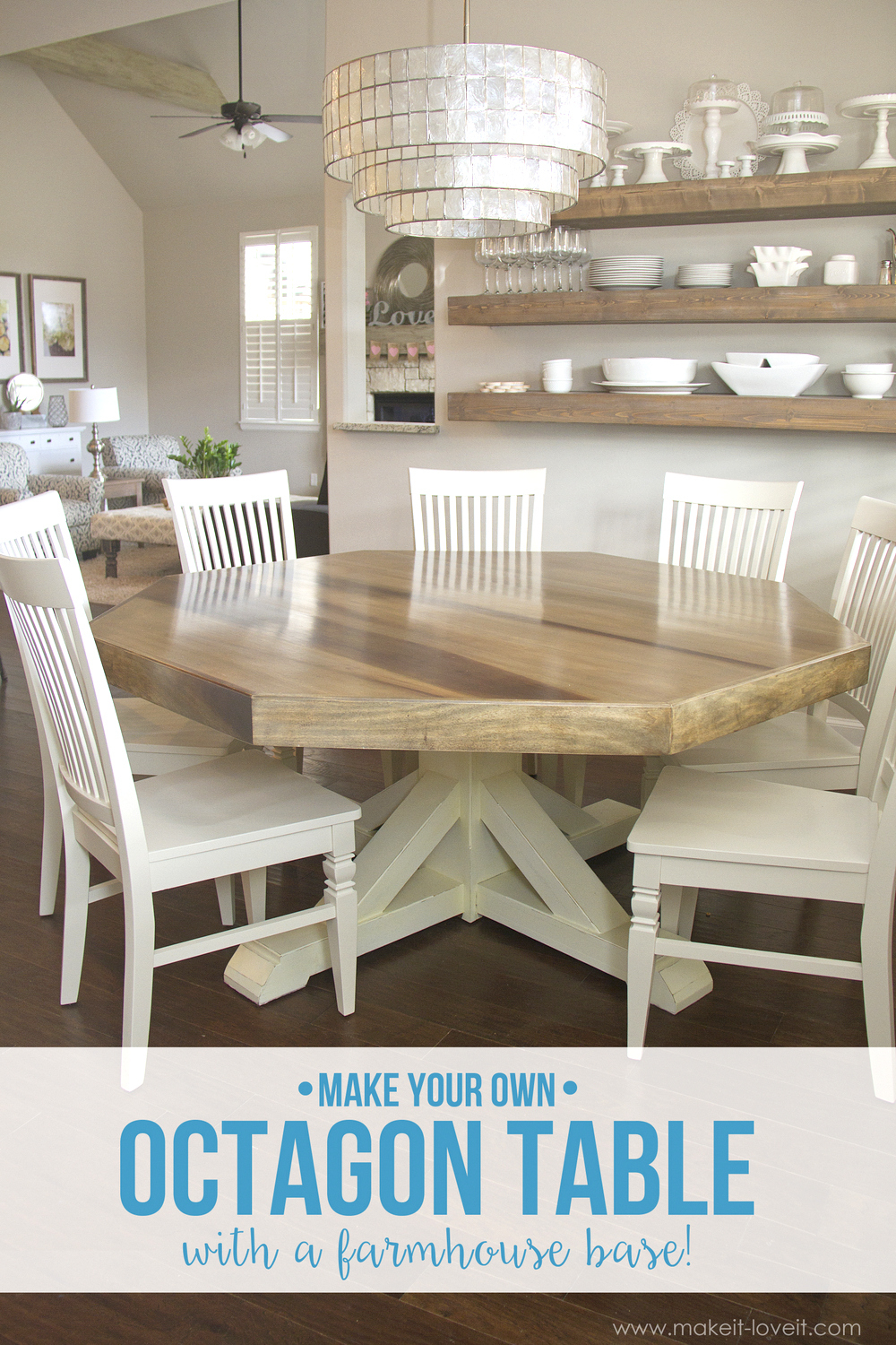 Diy Octagon Dining Room Tablewith A Farmhouse Base intended for sizing 1000 X 1500