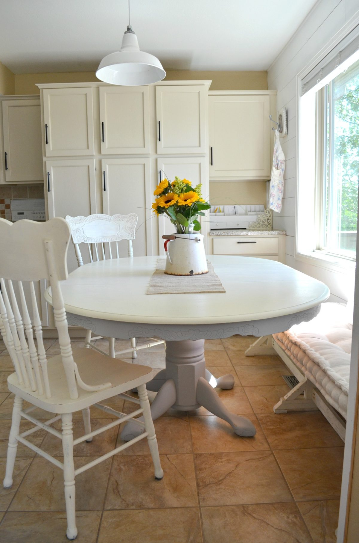 Diy Projects Chalk Paint Dining Table Makeover Sarah Joy pertaining to sizing 1200 X 1812
