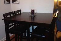 Espresso Pub Table And Chairs From Big Lots Works Great In inside measurements 1536 X 2048