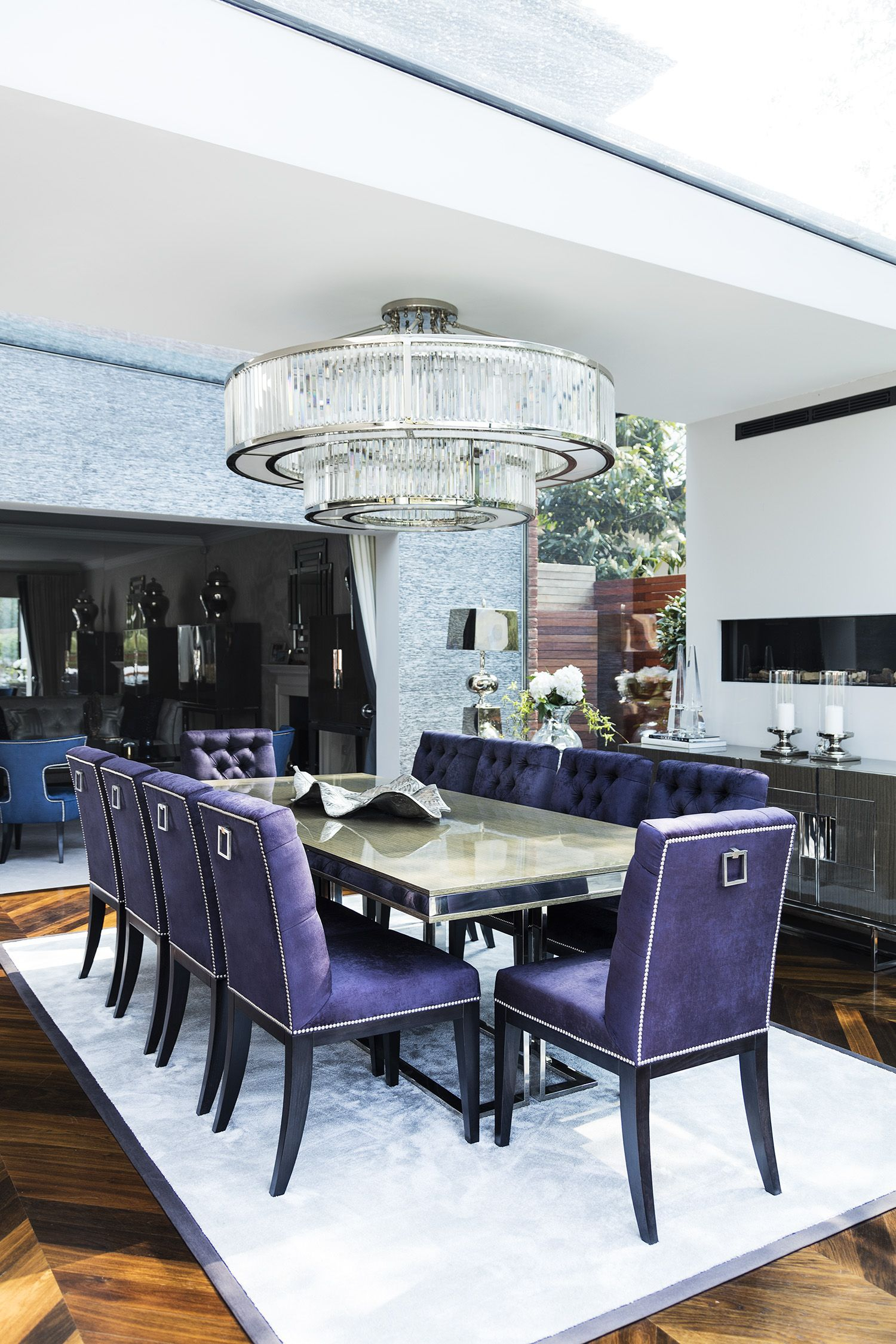 Formal Dining Room With Timeless Elegance Lucas Velvet inside dimensions 1500 X 2250
