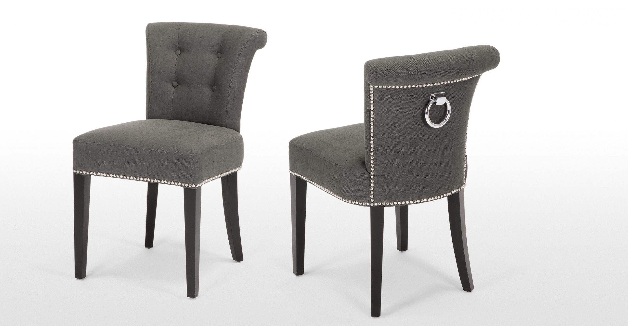 Grey Fabric Upholstered Dining Chairs Dining Chairs Design pertaining to sizing 2889 X 1500