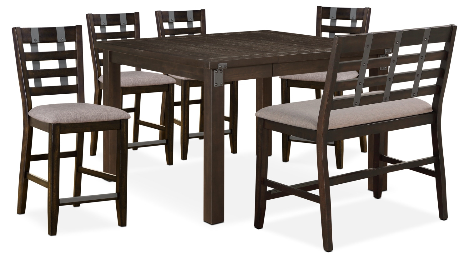 Hampton Counter Height Dining Table 4 Stools And Bench within dimensions 1500 X 829