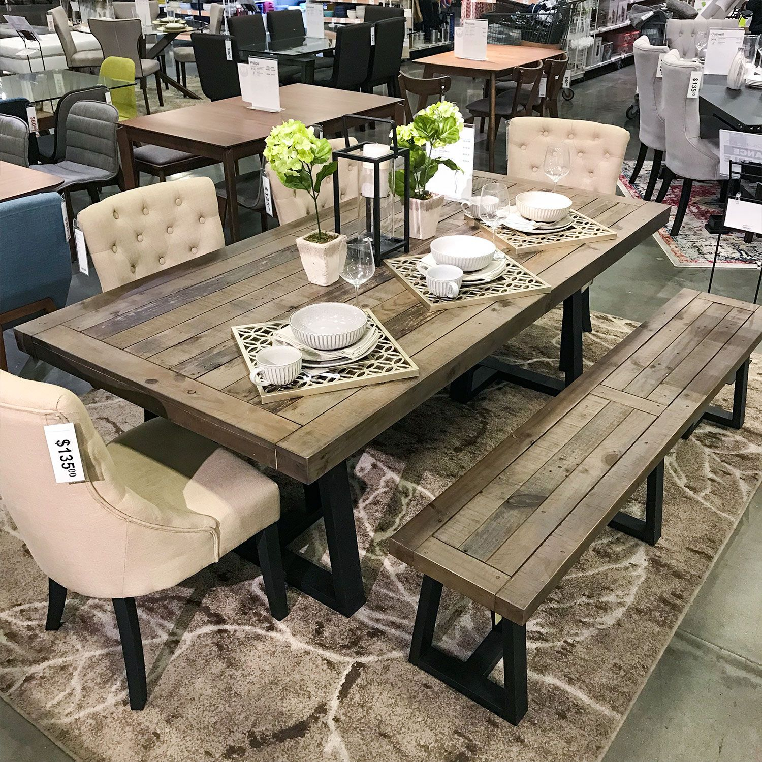 Hudson Dining Chair Dining Table With Bench Rustic Dining intended for dimensions 1500 X 1500