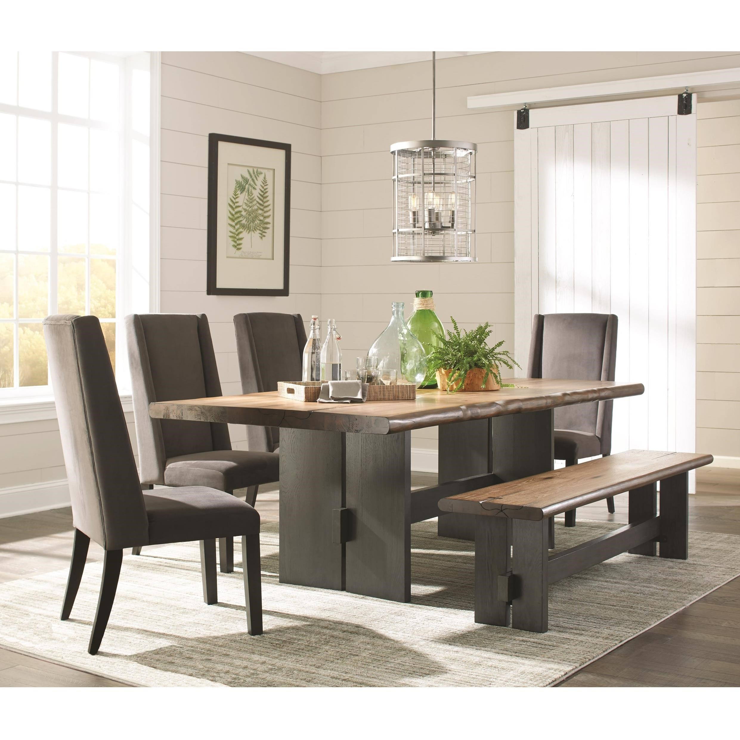 Marquette Dining Table Set With Bench with sizing 2482 X 2482