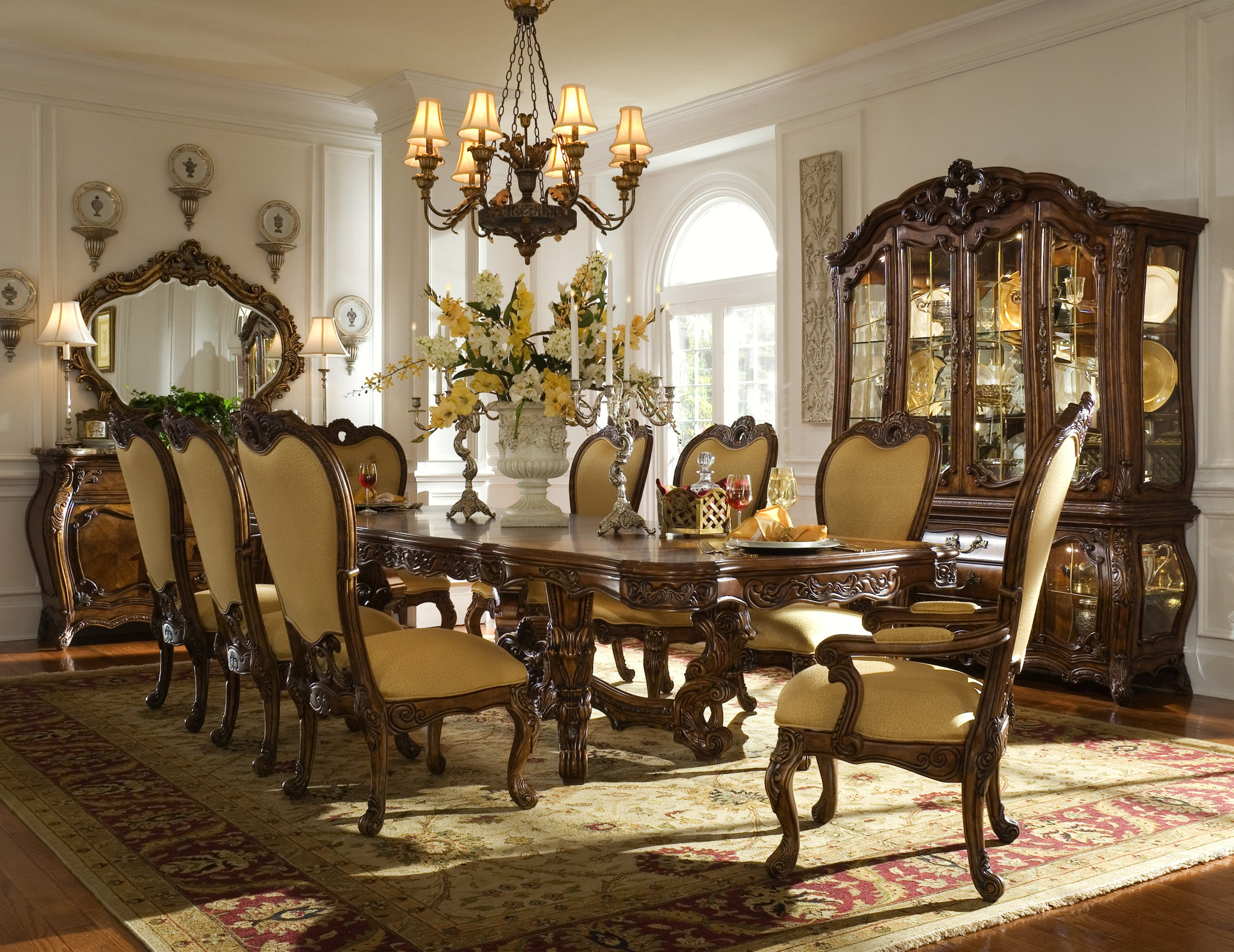 Palais Royale Formal Dining Room Collection Aico Dining pertaining to measurements 2046 X 1579