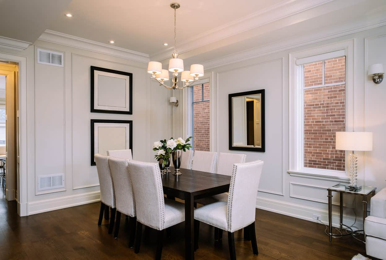 perfect dining room table size • faucet ideas site