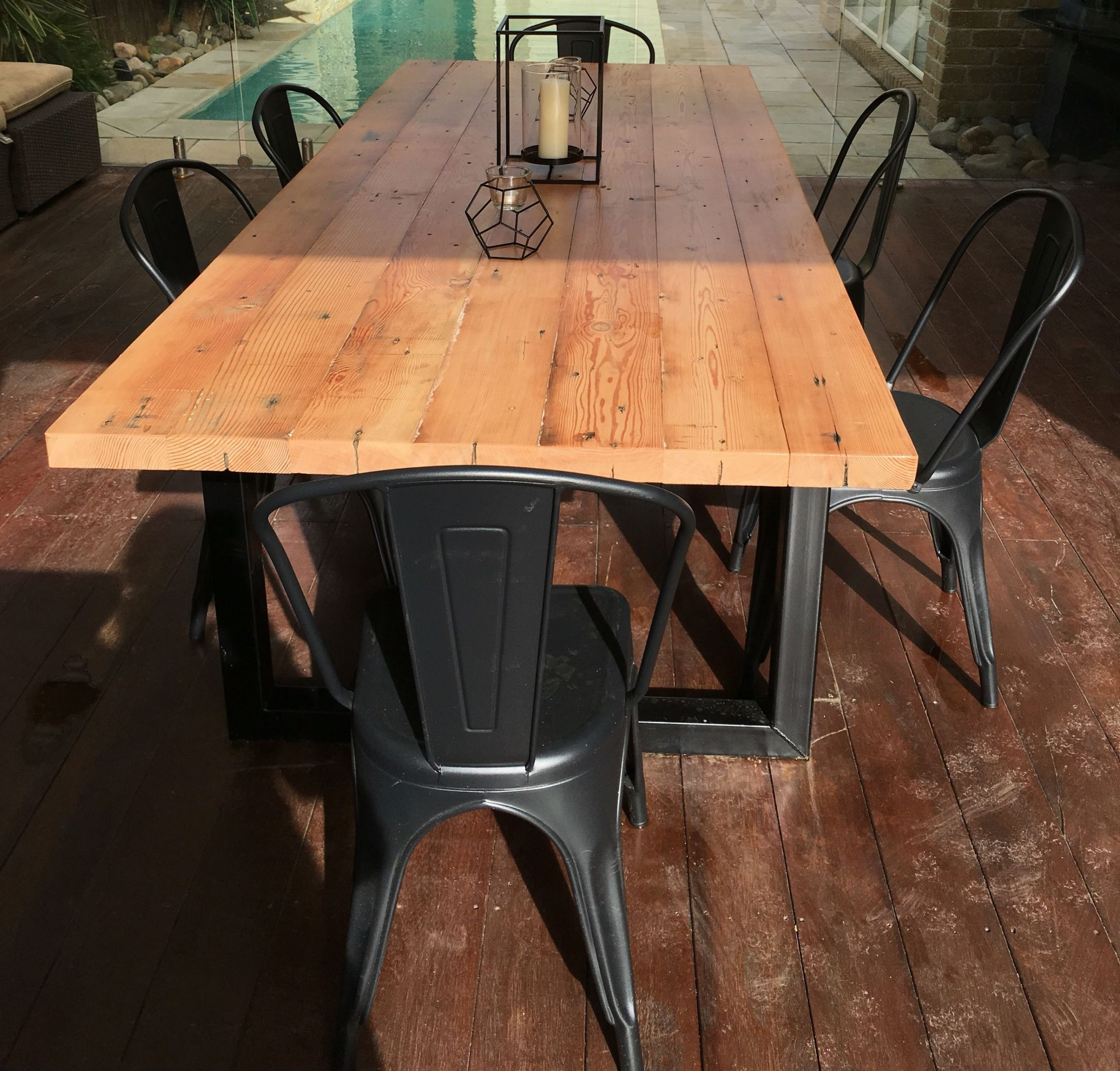 Recycled Oregon Industrial Dining Table Made intended for sizing 2730 X 2610