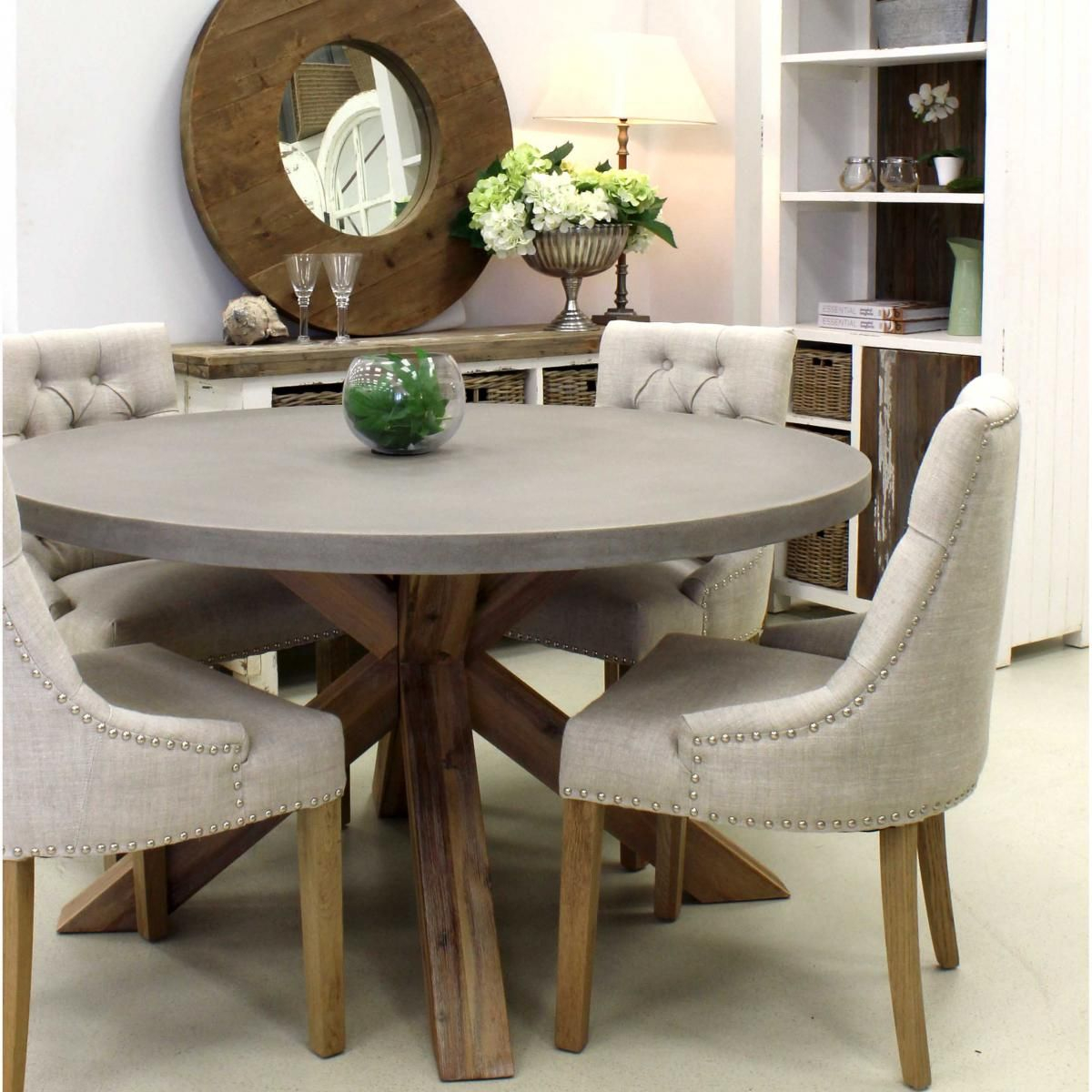 Round Concrete Dining Table Urban Beach Lifestyle for sizing 1200 X 1200