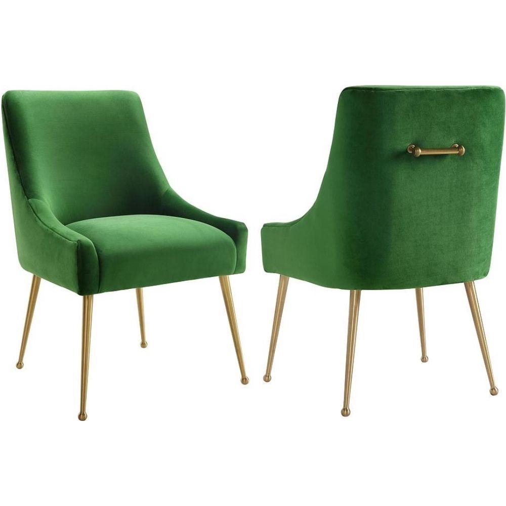 Tov Furniture Tov D46 Beatrix Green Velvet Side Dining Chair regarding dimensions 1000 X 1000