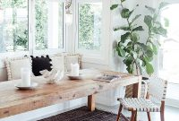 White Walls Wood Table Built In Bench Breakfast Nook within sizing 800 X 1200